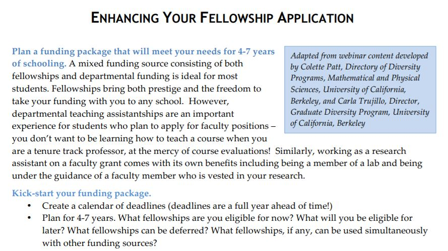 Enhancing your Fellowship Application