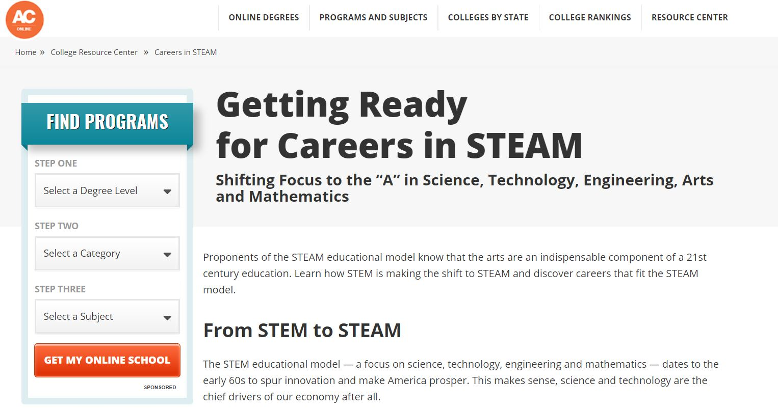 STEAM Careers in Art Schools