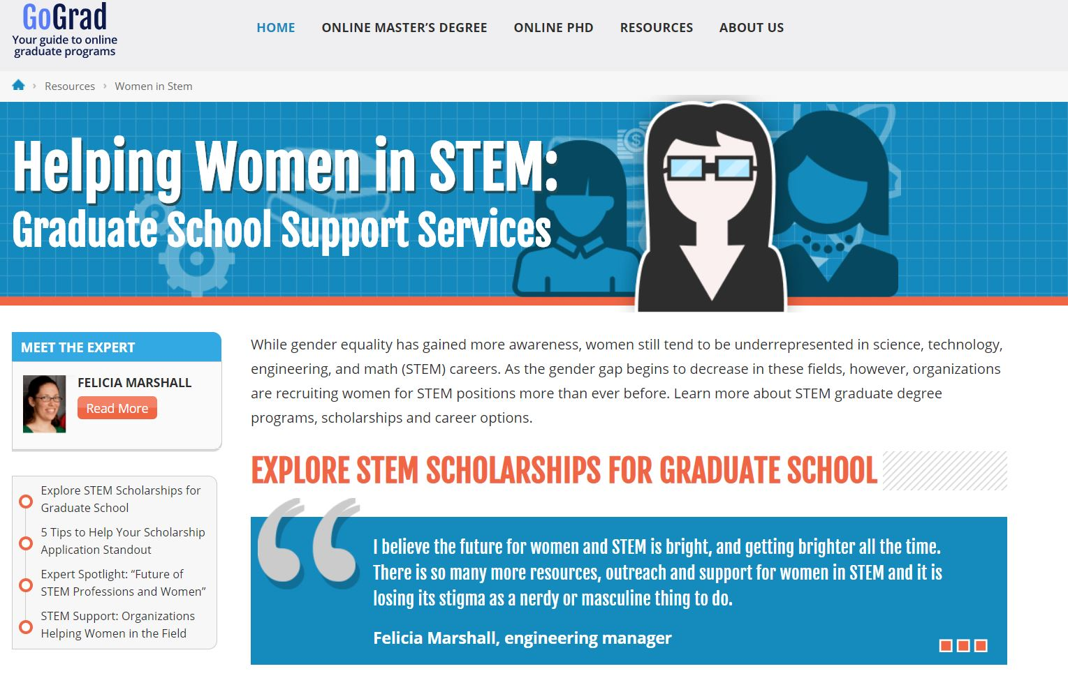 Graduate Resources for Women in STEM